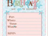 Girl Birthday Invitations Free Printable 21 Teen Birthday Invitations Inspire Design Cards