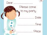 Girl Birthday Invitations Free Printable Free Balloon Girl Birthday Party Invitation Printable