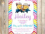 Girl Minion Birthday Party Invitations Minions Birthday Invitation Minions Invite Minions Movie