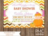 Girl Pumpkin Baby Shower Invitations Custom Printed Girl Pumpkin Baby Shower Invitations 1 00