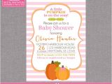 Girl Pumpkin Baby Shower Invitations Little Pumpkin Baby Shower Invitation Fall by Zoeybluedesigns