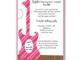 Girl Rockstar Party Invitations Girl Guitar Rock Star Birthday Invitations Clearance