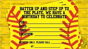 Girl softball Birthday Invitations 1000 Ideas About softball Birthday Cakes On Pinterest
