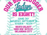 Girl softball Birthday Invitations Custom softball or Baseball Birthday Invitation Boys