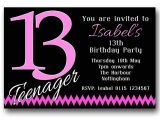 Girls 13th Birthday Party Invitations 10 Personalised Boys Girls Teenager 13th Birthday Party