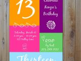 Girls 13th Birthday Party Invitations 13th Birthday Invitation Girl 39 S Birthday by