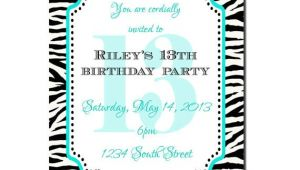 Girls 13th Birthday Party Invitations 13th Birthday Party Invitation Girl Birthday Invitation