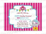 Girly Birthday Invitations Free Printable Girl Carnival Party Invites Custom Printable Birthday