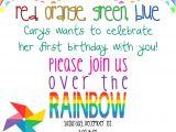 Girly Birthday Invitations Free Printable Girly Rainbow Birthday Invitation Printable 5×7 $10