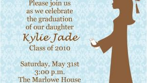 Girly Graduation Invitations Girly Damask Graduation Invitations