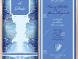 Glass Wedding Invitation Cards Winter Frozen Glass Design Wedding Invitation Card