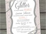 Glitter and Pearls Baby Shower Invitations 25 Best Ideas About Baby Pearls On Pinterest
