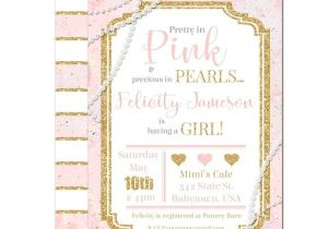 Glitter and Pearls Baby Shower Invitations Best 25 Glitter Baby Showers Ideas On Pinterest