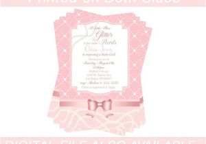 Glitter and Pearls Baby Shower Invitations Items Similar to Glitter and Pearls Baby Shower
