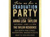 Glitter Graduation Party Invitations Gold Foil Glitter Graduation Party Invitation Zazzle