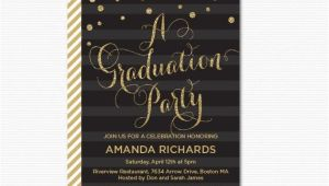 Glitter Graduation Party Invitations Gold Glitter Graduation Party Invitation Printable