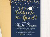Glitter Graduation Party Invitations Graduation Party Invitation Grad Party Glitter Invitation
