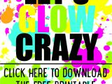 Glow In the Dark Party Invitations Free Diy Glow Party Invitations Free Printable 18th