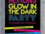 Glow In the Dark Party Invitations Free Glow In the Dark Party Invitation for Birthday Black
