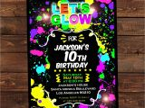 Glow Party Invites Glow In the Dark Invitations Diy Glow Party Invitations