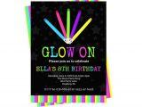 Glow Stick Party Invitations 80 39 S Neon Party Invitation Kids Glow Stick Invites
