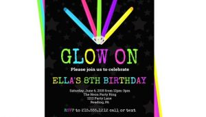 Glow Stick Party Invitations 80 39 S Neon Party Invitation Kids Glow Stick Invites