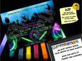 Glow Stick Party Invitations Birthday Glow Party Invitation Printable Invite Emailable