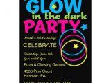 Glow Stick Party Invitations Glow In Dark Birthday Party Invitations 5 Quot X 7 Quot Invitation