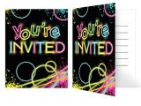 Glow Stick Party Invitations Glow Party Invitations Glow Party Supplies Shindigs Com Au