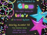 Glow Stick Party Invitations Sweet 16 Glow Party Invitations Light Up the Night