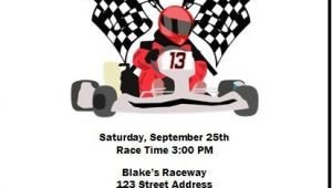 Go Karting Party Invitation Template Free Go Kart Racer Birthday Party Invitation Set Of 12 In 2019