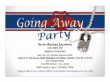 Going Away Party Invitation Sample Military Going Away Party Invitation Wording