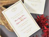 Gold Wedding Invitation Kits Gold Intertwined Hearts Printable Invitation Kit