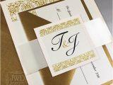 Gold Wedding Invitation Kits Items Similar to Blush Wedding Invitation Elegant Gold