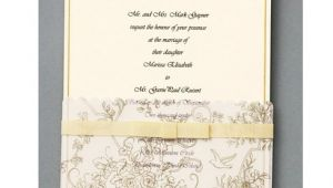 Gold Wedding Invitation Kits Wilton 25 Ct Gold Wedding toile Invitation Kit at Joann Com