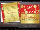 Golden Birthday Invitations Kids Customizable Invitations