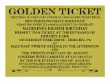 Golden Birthday Invitations Kids the Golden Ticket Birthday Invitation 4 5 Quot X 6 25