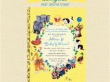 Golden Book Baby Shower Invitations Baby Shower Nursery Rhyme Storybook Book Baby Shower
