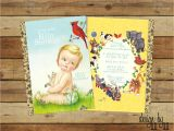 Golden Book Baby Shower Invitations Vintage Little Golden Book Baby Shower Invitation by