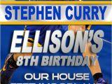 Golden State Warriors Birthday Invitations Golden State Warriors Birthday Party Invitation by