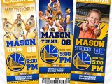 Golden State Warriors Birthday Invitations Golden State Warriors Invitation Steph Curry Invitation
