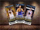 Golden State Warriors Birthday Invitations Golden State Warriors themed Invitations by Mysteryboxstudio