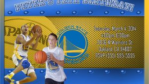 Golden State Warriors Birthday Invitations Nba Golden State Warriors Birthday Invitation