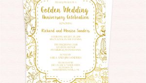 Golden Wedding Invitation Template Free Pdf Template Golden Wedding Anniversary Invitation