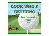 Golf Retirement Party Invitations Golf Retirement Invitations Template Zazzle Com