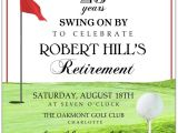 Golf Retirement Party Invitations Golf Tee Retirement Invitations Paperstyle