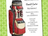 Golf Retirement Party Invitations Golf themed Party Invitations Announcingit Invitation Shop
