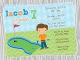 Golf themed Party Invitations Golf Birthday Invitations Template Resume Builder