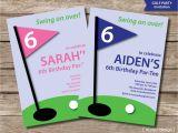 Golf themed Party Invitations Golf Invitation Printable Golf Party Invitation Golf Birthday
