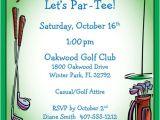 Golf themed Party Invitations Golf Party Invitation